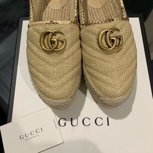 Gucci platform espadrille
